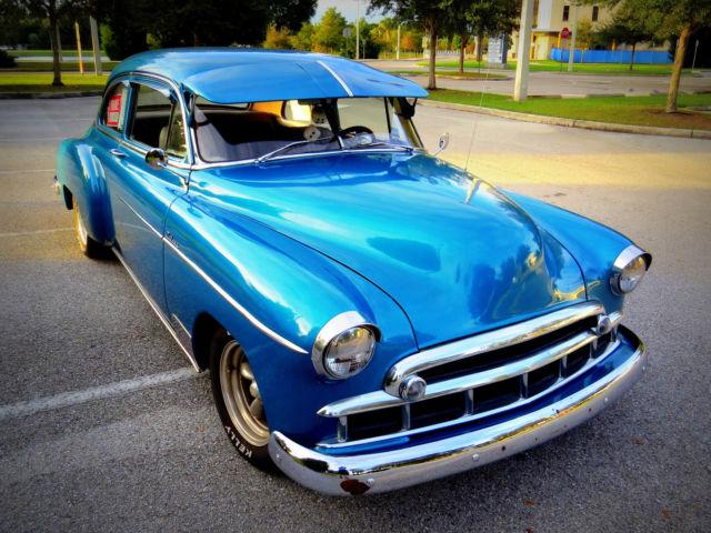 1949 chevy deluxe styleline 2 door blue printed v8 turbo for 1949 chevy 4 door deluxe