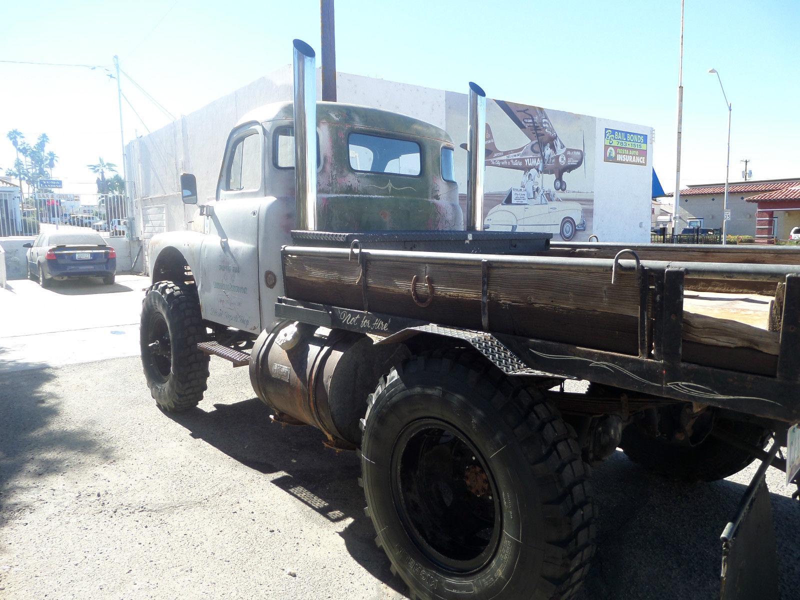 1949 Dodge Truck Cummins Diesel Power 4x4 Rat Rod Tow No Seat Reserve