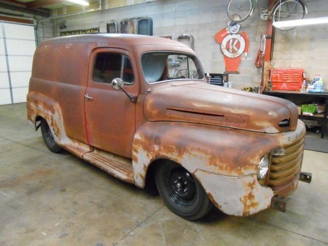 1949 Ford F1 Panel Truck Shop Truck Rat Hot Rod 48 50 51