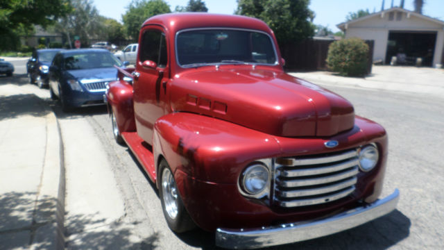 1949 Ford F1 Pickup Truck With 1951 Hood 1 2 Ton V8 302