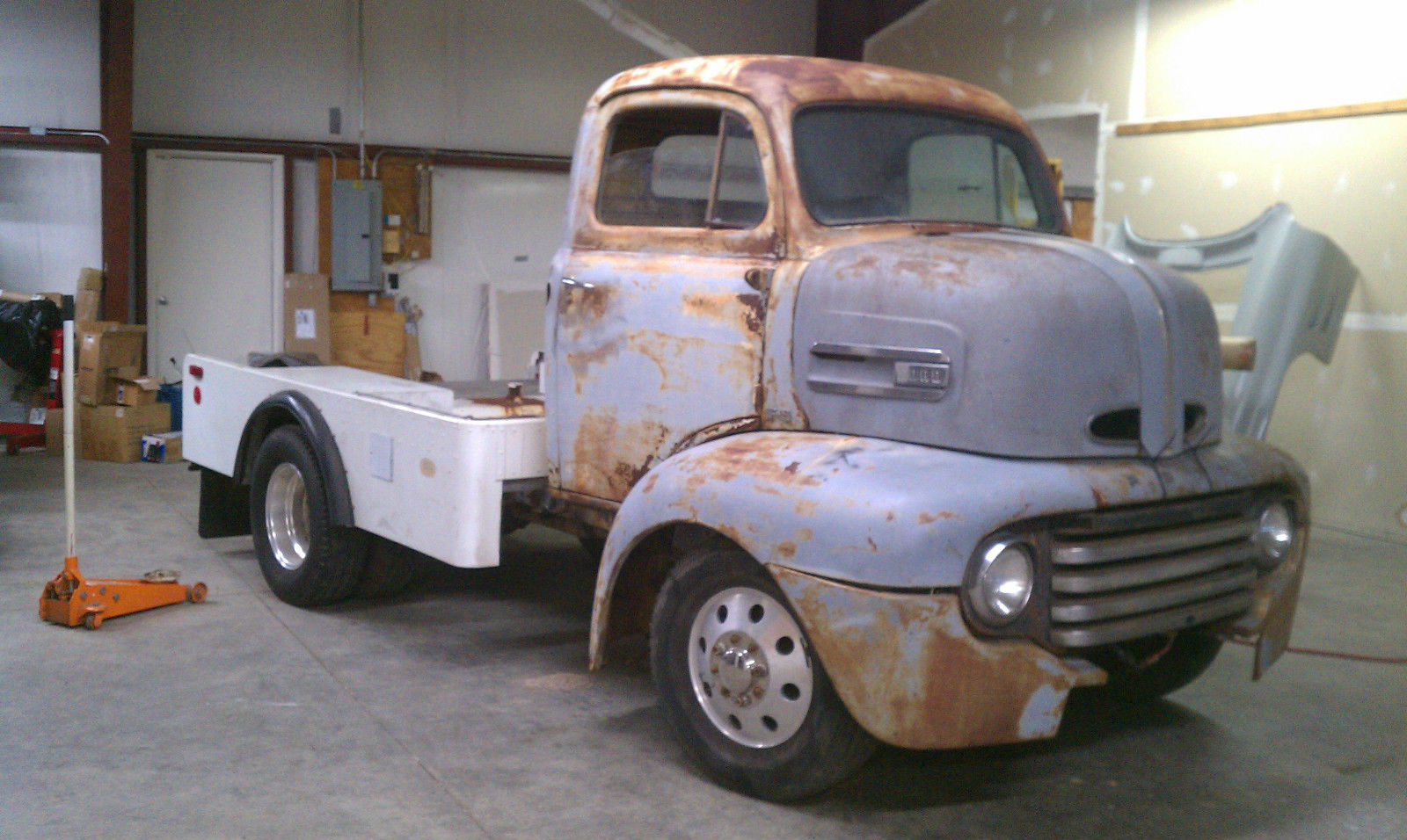 1949 Ford F5 Coe Project With 454 Engine On 1985 P30 Chevy Chassis Truck Vin Number Other Pickups