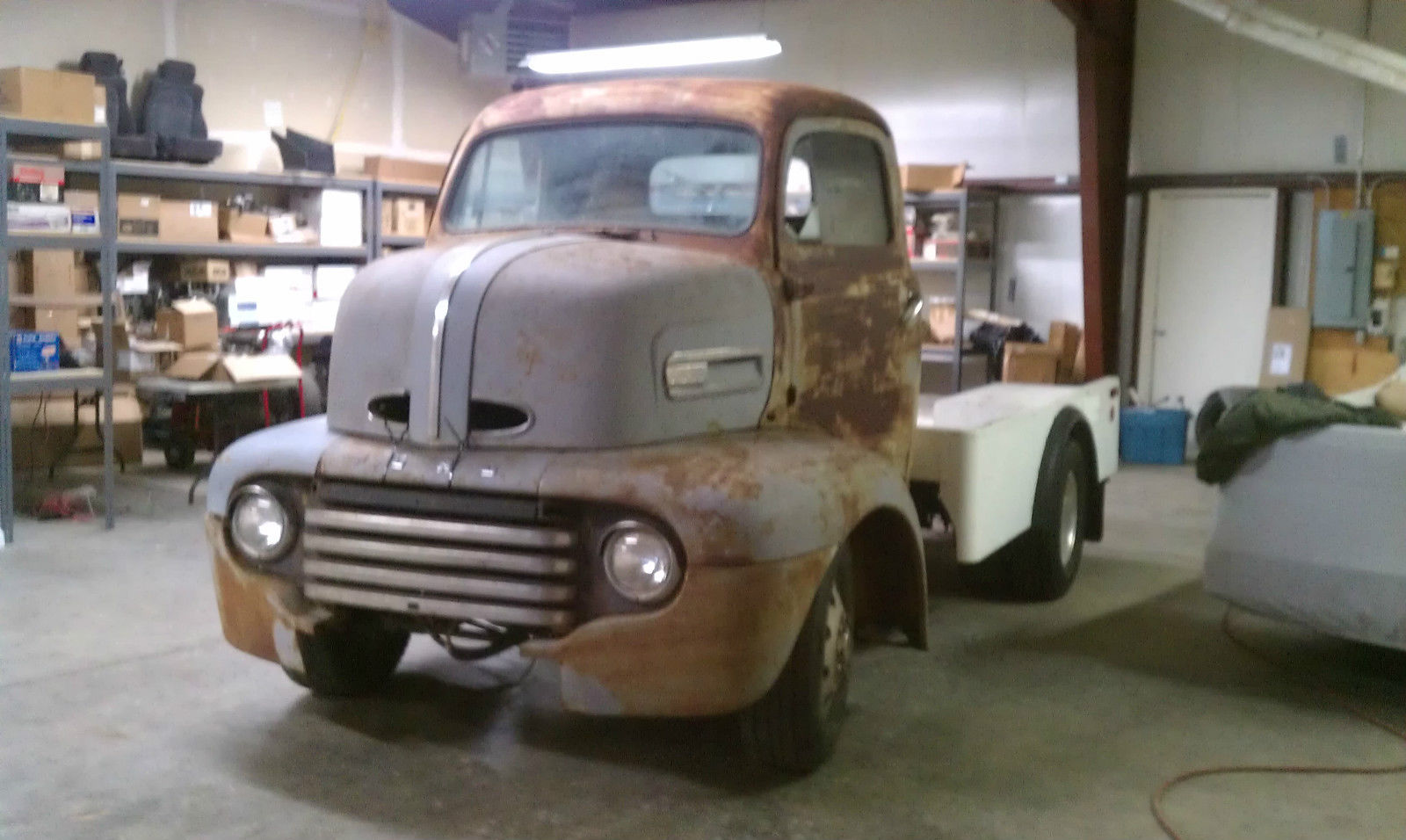 1949 Ford F5 Coe Project With 454 Engine On 1985 P30 Chevy Chassis Step Van