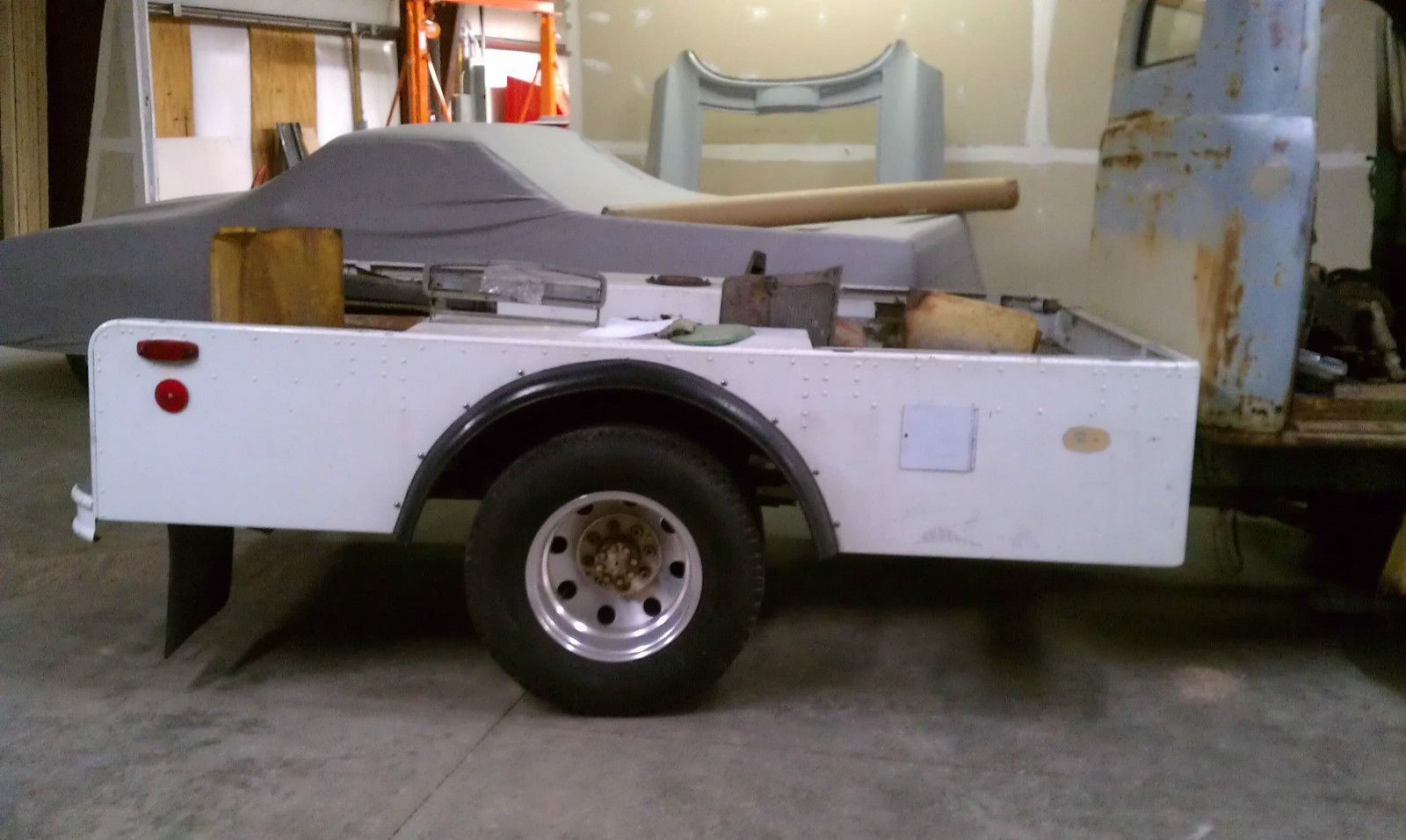 1949 FORD F5 COE PROJECT WITH 454 ENGINE ON 1985 P30 CHEVY