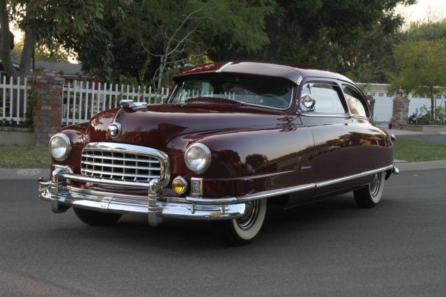 Nash Car: 1949 Nash Ambassador Six Rare 2 Door Brougham Theater Rear