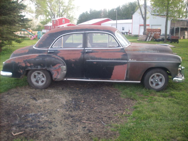 1950 Chevrolet 4 Door Deluxe Project Runs Patina Hot