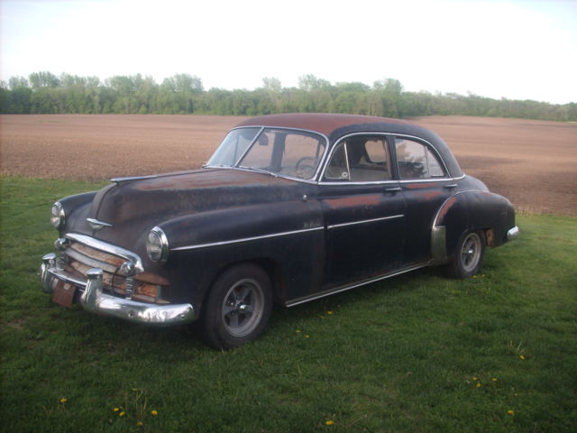 1950 chevrolet 4 door deluxe project runs patina hot for 1950 chevy styleline deluxe 4 door sedan