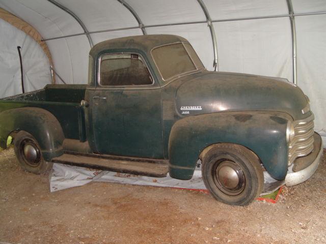 1950 Chevy 3100 original 5 window pick up truck all barn ...