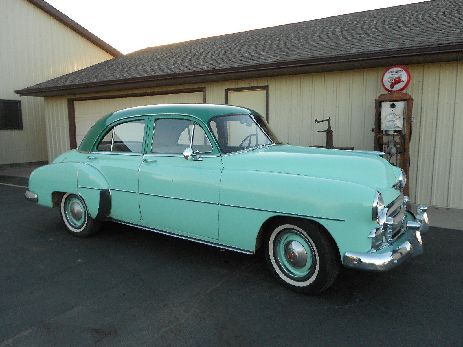 1950 chevy chevrolet styleline 4 door sedan original survivor 38 000 act miles classic. Black Bedroom Furniture Sets. Home Design Ideas