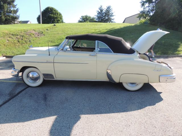 1950 chevy deluxe styleline moonlite cream convertible classic chevrolet other 1950 for sale. Black Bedroom Furniture Sets. Home Design Ideas