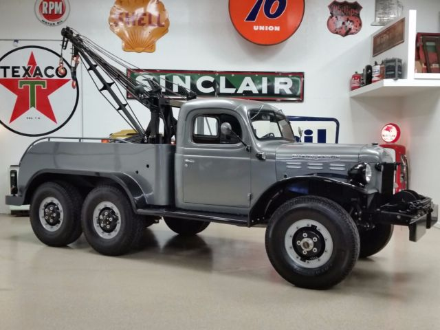 1950 Dodge Power Wagon 6x6 Wrecker Tow Truck Injected