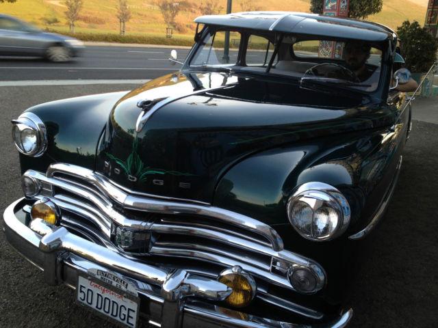1950 dodge wayfarer 2 door sedan green classic dodge for 1950 dodge 2 door coupe