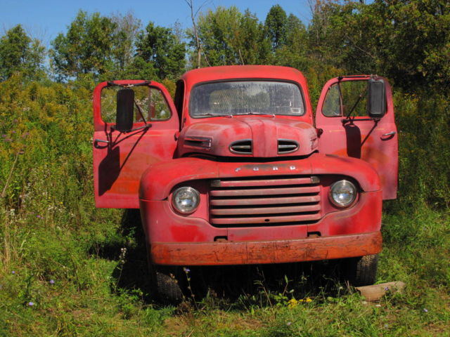 1950 FORD F-7 GOOD RUNNING TRUCK-ROD-RAT ROD LINCOLN 331 FLATHEAD