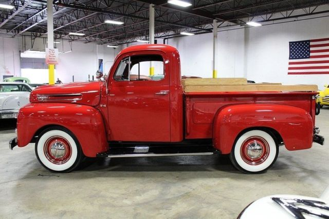 1950 ford f1 12678 miles red pickup truck 337 v8 3 speed manual classic ford other pickups. Black Bedroom Furniture Sets. Home Design Ideas