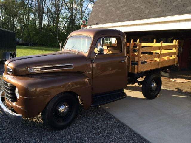 1950 Ford F1 Stakebed Truck Restored Classic Ford Other