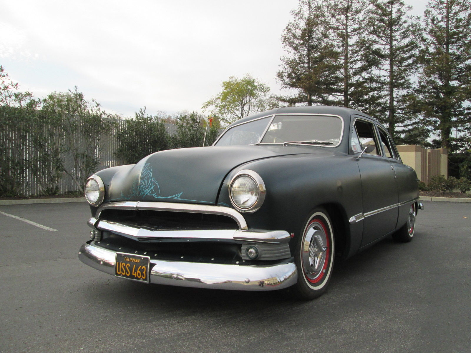 1950 ford shoebox custom 2 door sedan beautiful ca car v 8 for Door 2 door cars