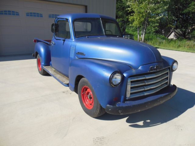 1950 gmc 100 pickup truck runs and drives patina make hot rat rod muscle chevy classic gmc 100. Black Bedroom Furniture Sets. Home Design Ideas
