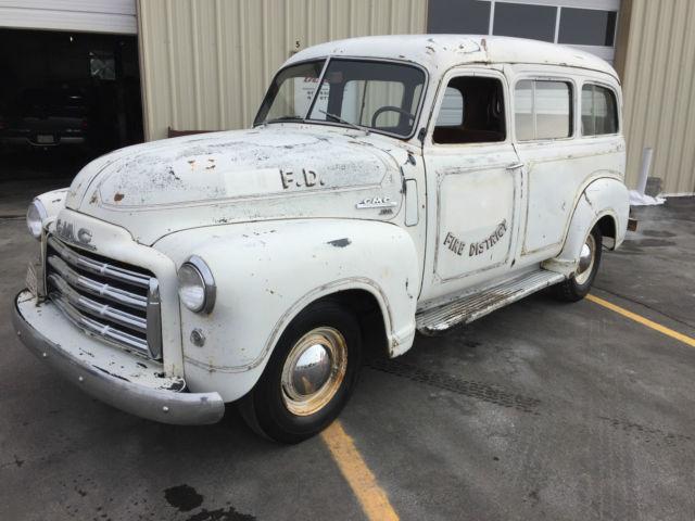 1950 GMC Suburban Fire Truck, Chevrolet, Hot Rod, Barnfind ...