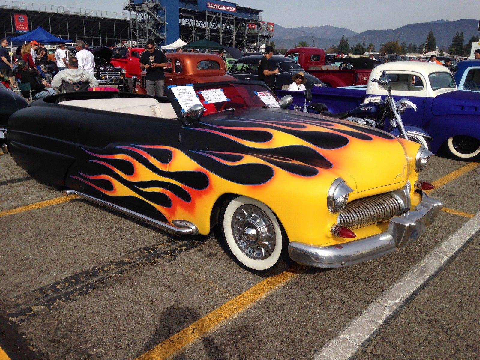 1950 Mercury Lead Sled Hot Rod W Fiberglass Carson Top