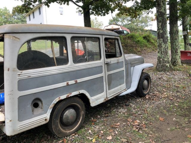 1950 WILLYS WAGON BARN FIND RAT HOT ROD CLASSIC RARE 2 WD ...