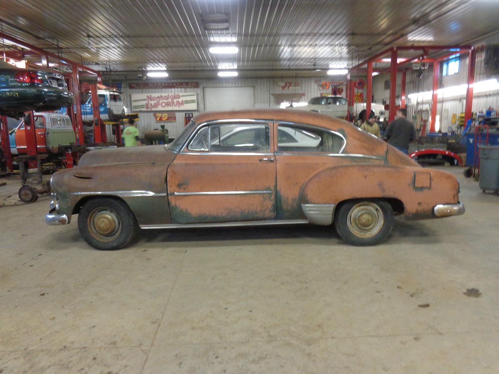 1951 Chevrolet Fleetline Deluxe 2 Door Fastback Barn Find 35 Hardtop 35l