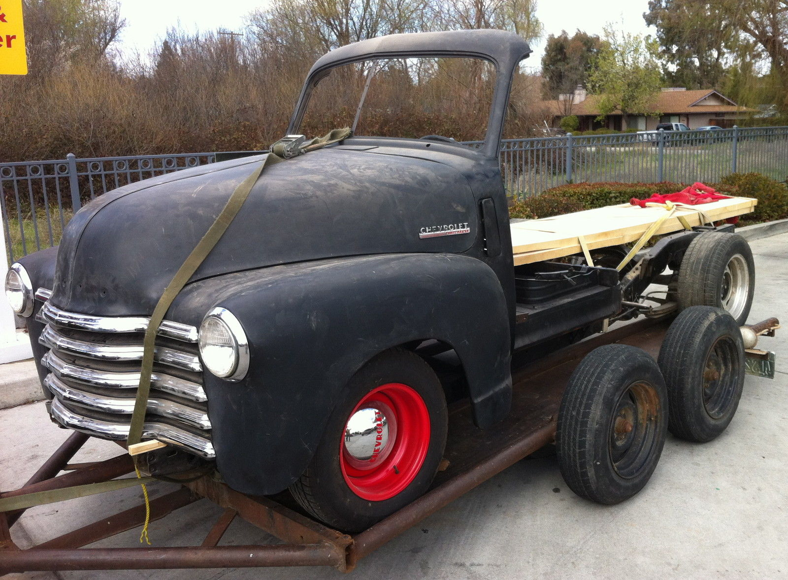 1951 Chevrolet Truck Woody Project On S10 Frame 1947 1948 1949 1950 Ford Grain Other Pickups