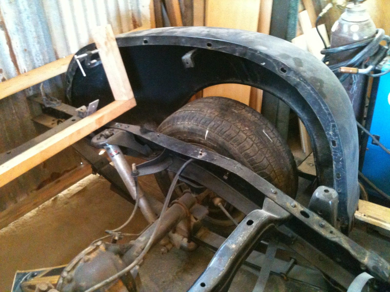 1951 Chevrolet Truck WOODY project on S10 frame 1947 1948 ...