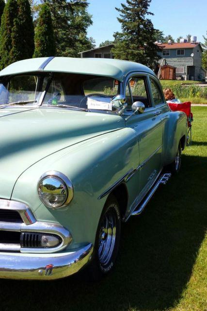 1951 chevy 2 door coupe seafoam green 235 6 cylinder for 1951 chevy 2 door coupe