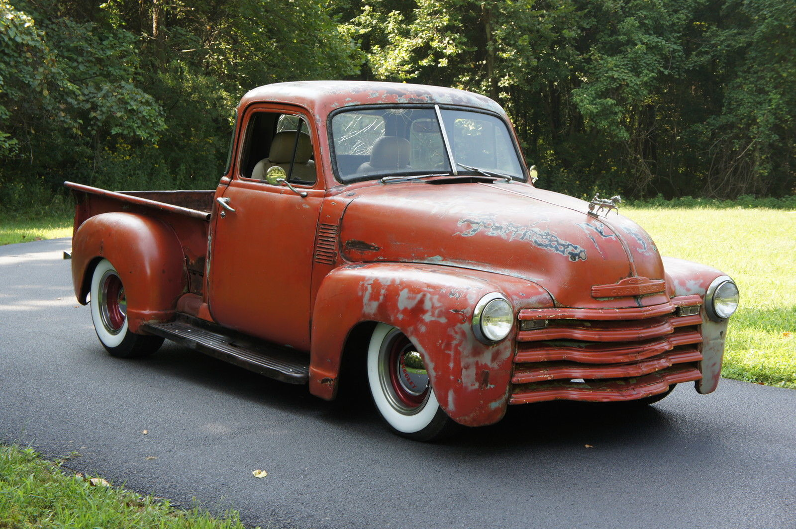 1951 Chevy 3100 5 Window Shortbed Ratrod Original Patina Bad Ss Truck Classic Chevrolet Other Pickups 1951 For Sale