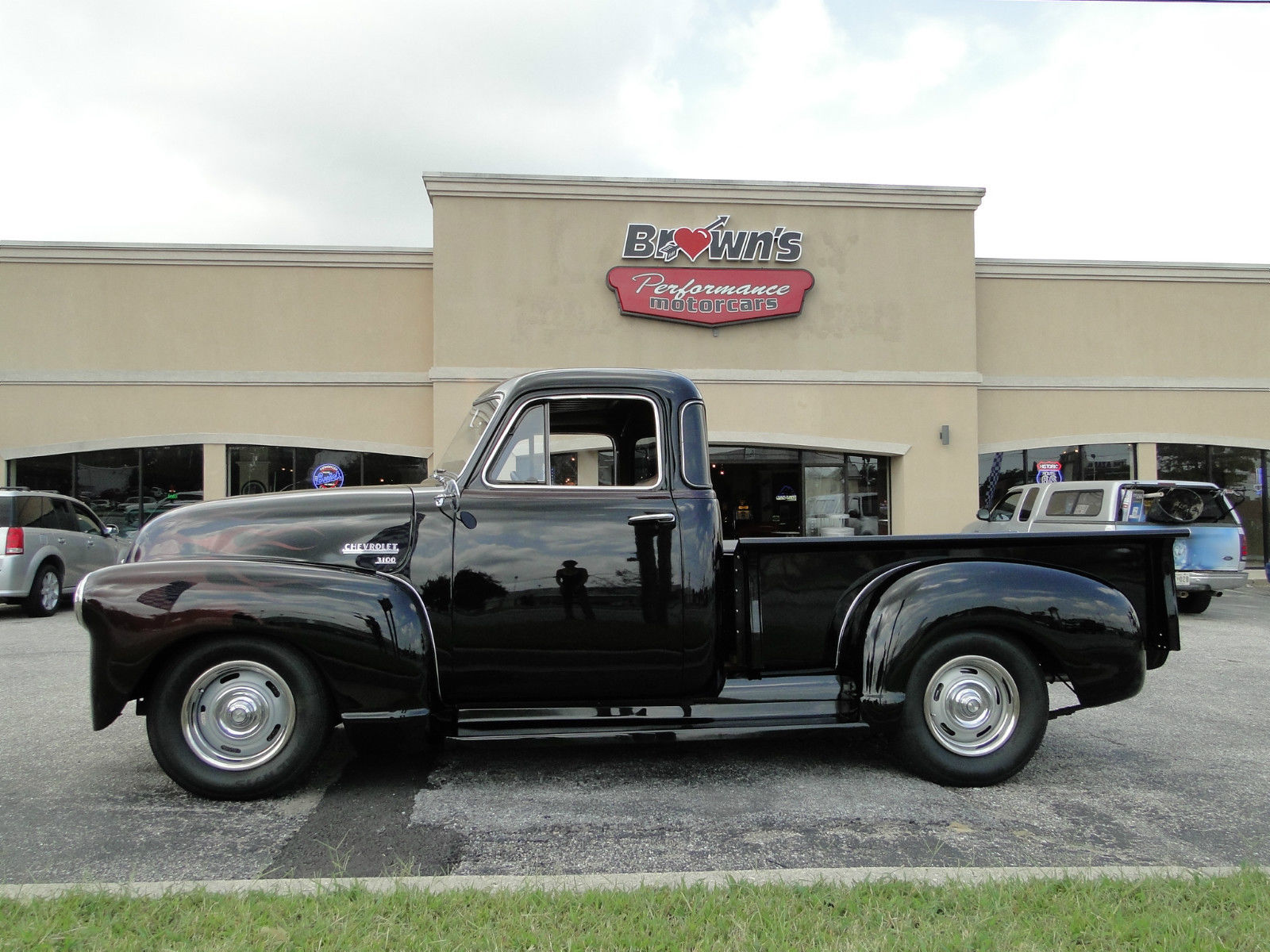 1951 chevy 5 window black cherry pickup truck classic. Black Bedroom Furniture Sets. Home Design Ideas