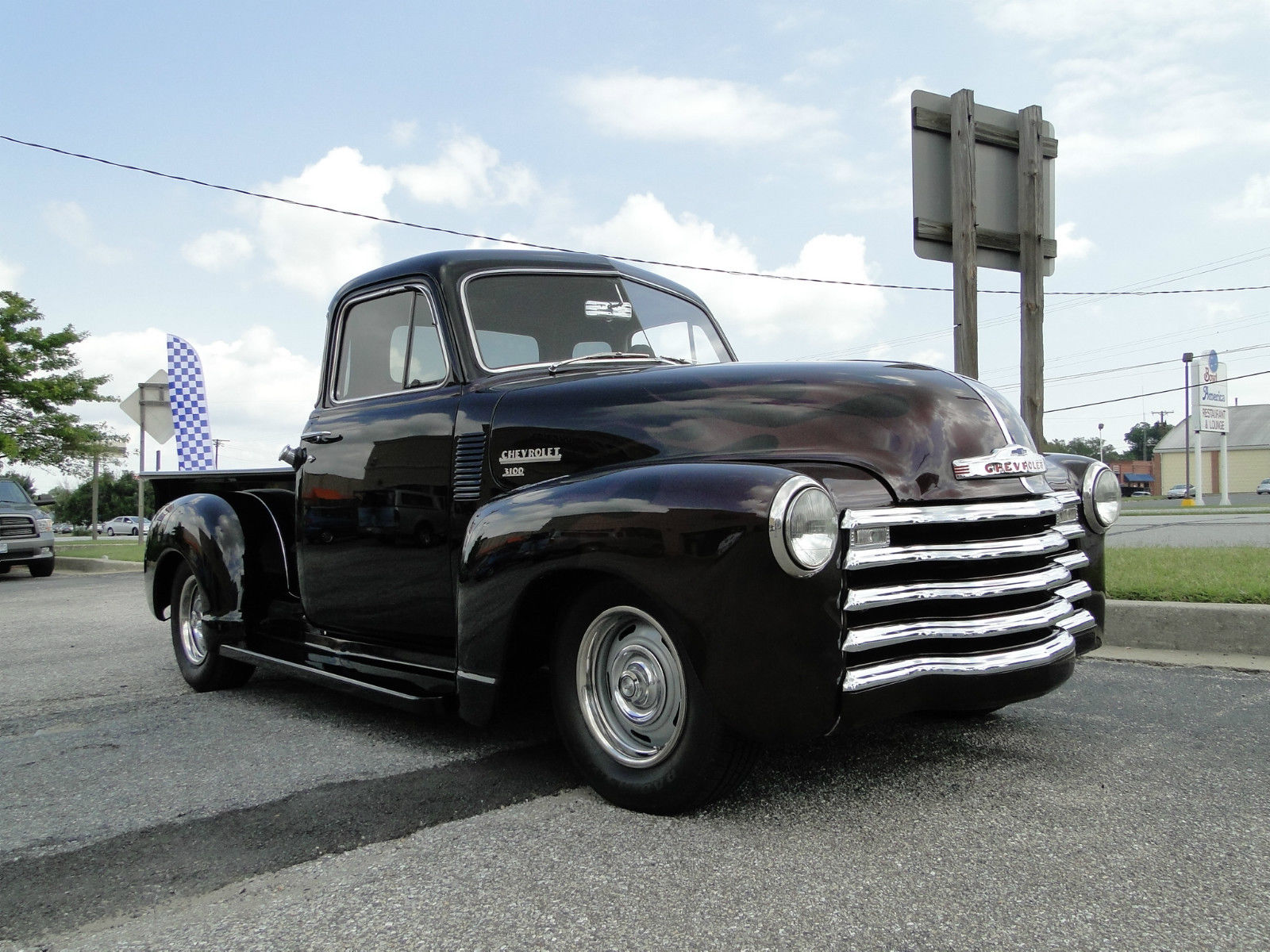 1951 chevy 5 window black cherry pickup truck classic for 1951 chevy 5 window pickup for sale