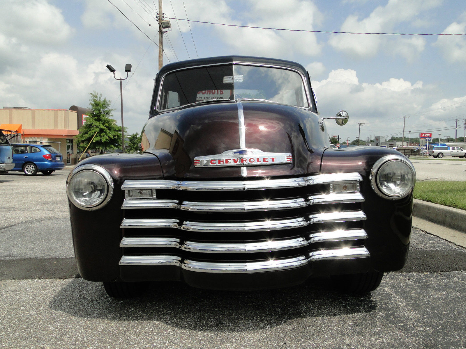 1951 Chevy 5 Window Black Cherry Pickup Truck Classic Chevrolet 1 Ton Prevnext