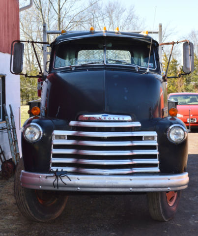 1951 Chevy Cab Over 5700 2 ton Loadmaster Workhorse Flatbed