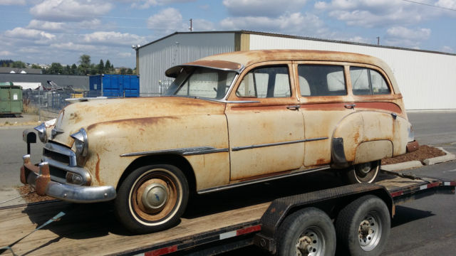 f668733d1 1951 CHEVY DELUXE TIN WOODY STATION WAGON: 9-PASSENGER,KUSTOM LEAD ...