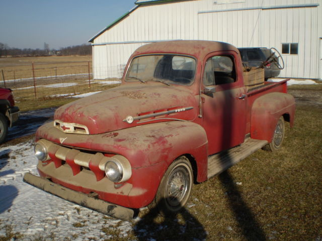 1951 ford f1 truck barn find with later model v8