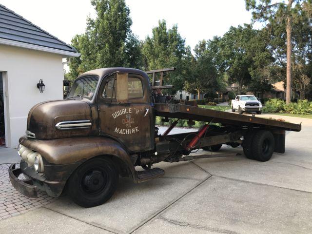 1951 Ford F5 Cabover Coe Pickup Truck Tilt Bed Hauler