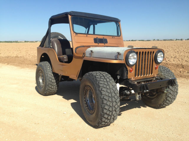 1951 Willys M38 Military Jeep Cj Rare V8 Classic