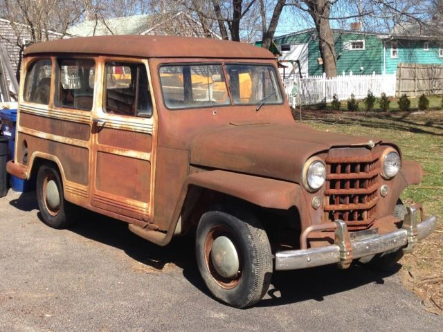 1951 Willys Overland Jeep Wagon Restoration Project Original No Reserve! - Classic Willys