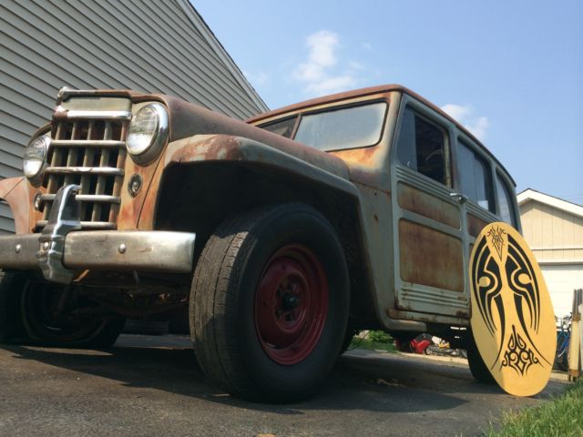 1951 Willys Station Wagon Rat Rod Surfer Woody Style - Classic