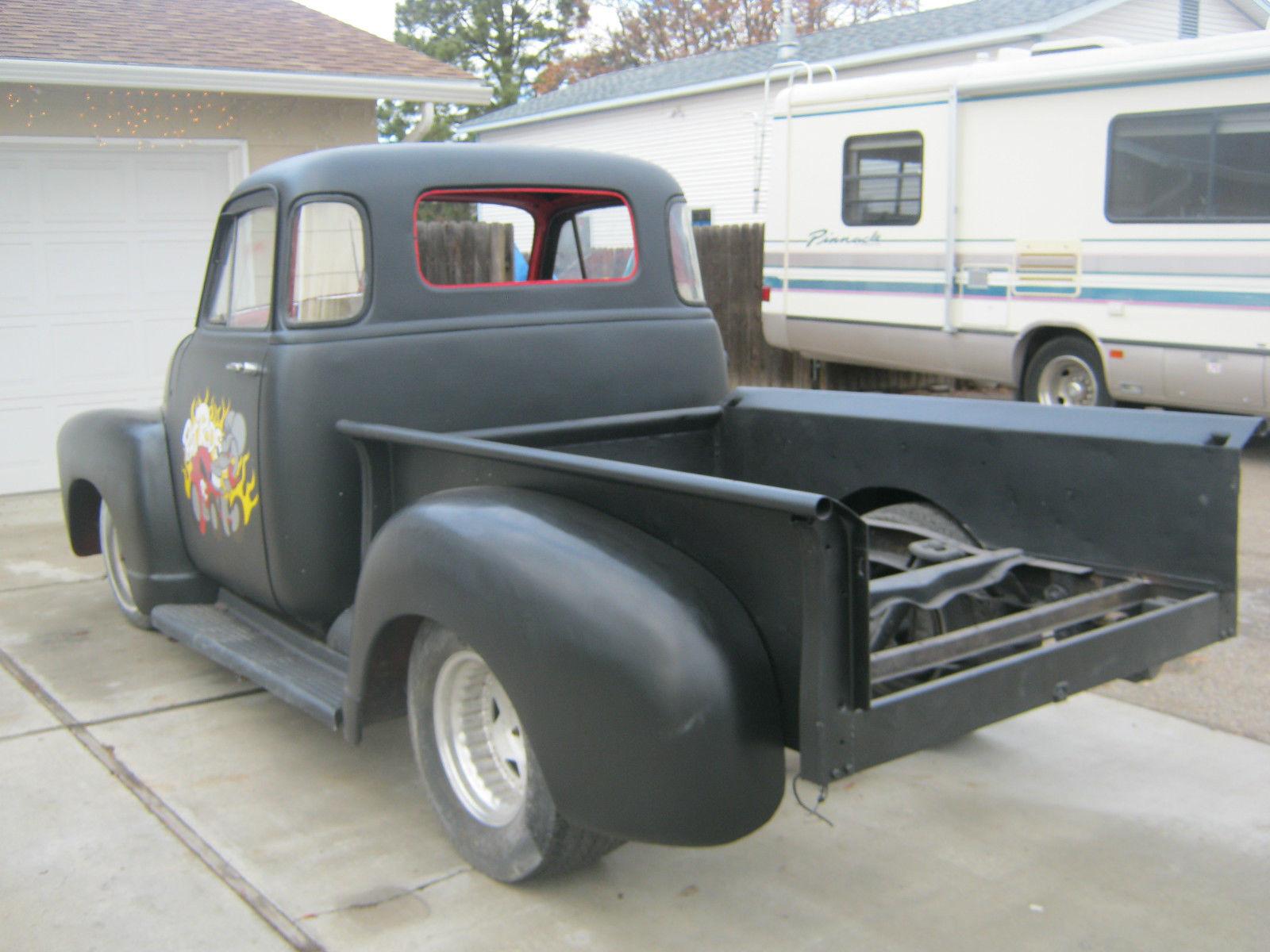 1952 Chevy Short Bed Pick Up Truck Custom Build Rat Rod
