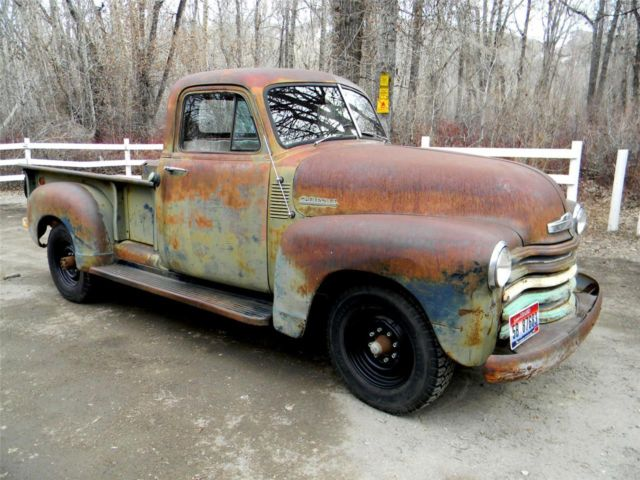 1952 Chevy Truck 3/4 Ton Long Bed 4 Speed Original Rat Rod