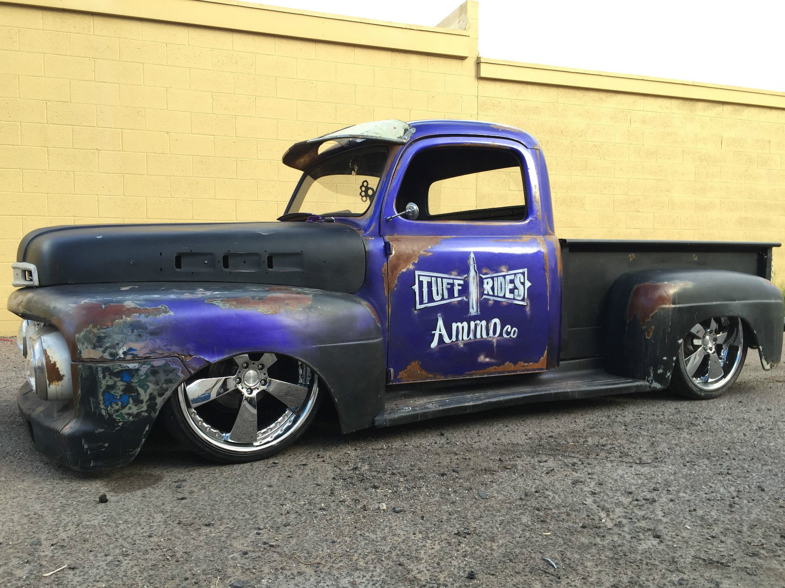 1952 ford f1 rat rod truck full air ride patina restored