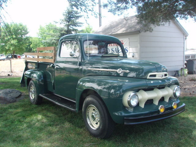 1952 ford f3 3 4 ton green restored classic classic ford. Black Bedroom Furniture Sets. Home Design Ideas