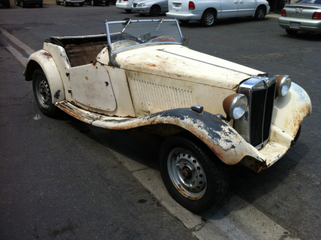 1952 mgtd roadster for parts or restoration mg td located