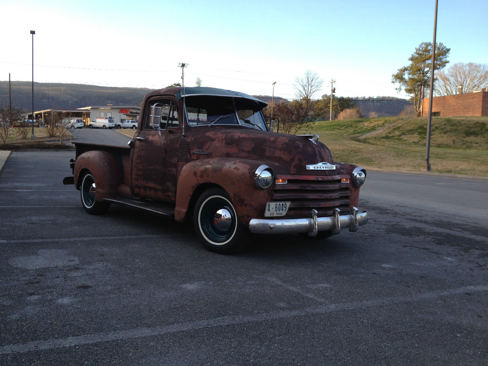 1953 Chevrolet 3100 Short Bed Pickup Traditional Hot Rod Rat 235 Chevy Wiring Other Pickups