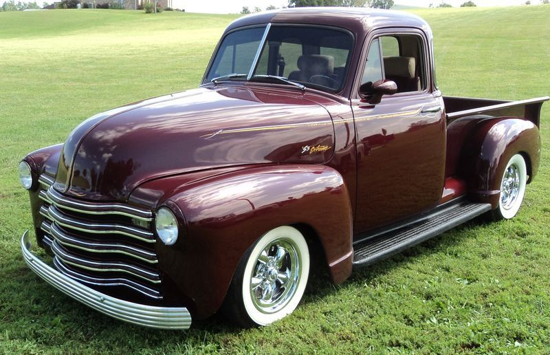 1953 chevrolet 5 window   street rod 3100 pickup