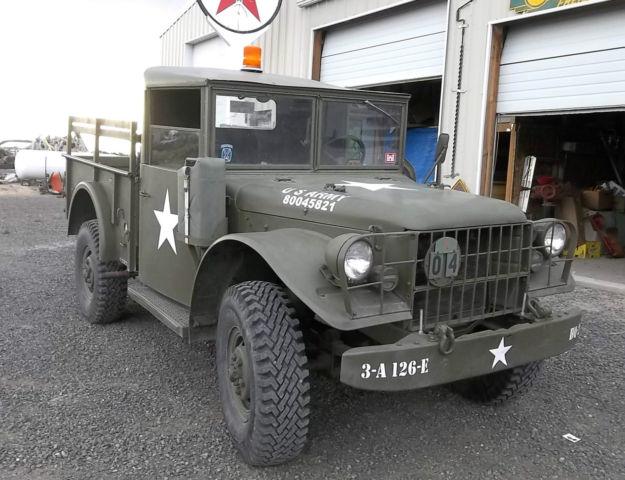 1953 Dodge M37 Power Wagon Us Army Truck 24 Volt