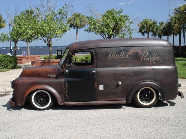 1953 dodge truck panel wagon ratrod hotrod rat rod patina. Black Bedroom Furniture Sets. Home Design Ideas