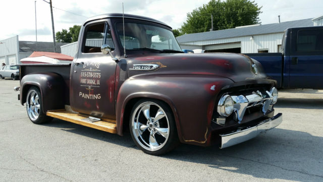 1953 Ford F100 Short Box Step Side Old School Hot Rat Rod