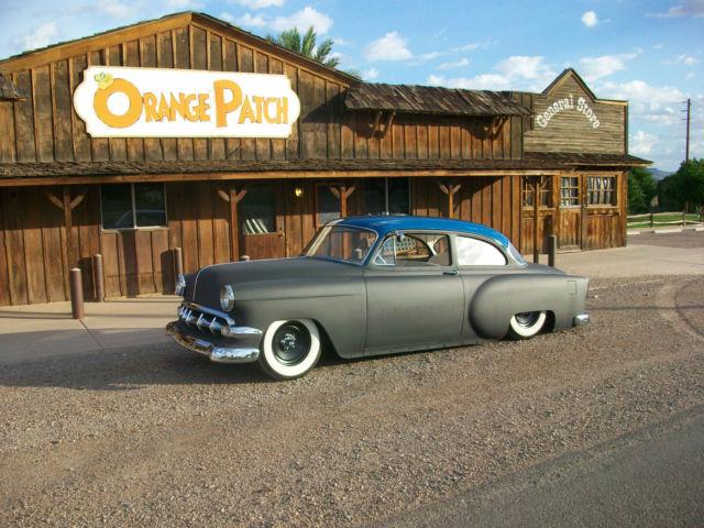 1954 Chevrolet 2 Door Sedan Air Bagged Mild Custom Chevy