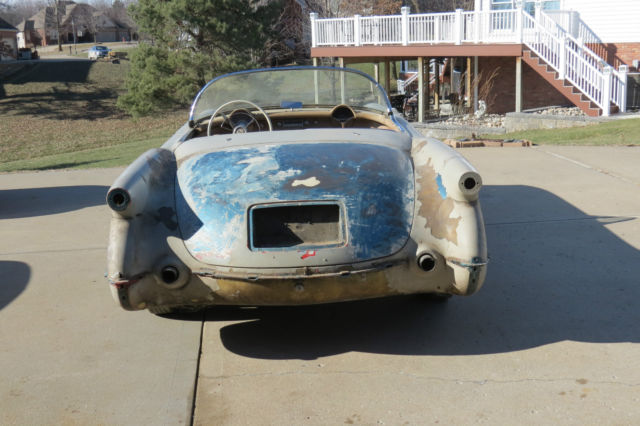 1954 Corvette Pennant Blue Restoration Car With Tan